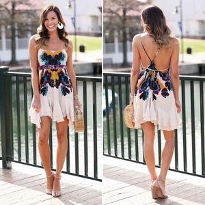 Free People | Sweet Lucy Slip Dress Floral Boho